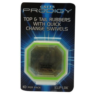 Greys Prodigy Top & Tail Rubbers with Quick Change Swivels