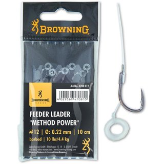 Zebco Browning Method Power - #12 - 0,22 mm - 10 cm - 4,4 kg - 6 Stk.